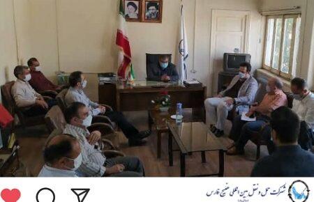 جلسه مدیرعامل با همکاران شعبه کرمانشاه